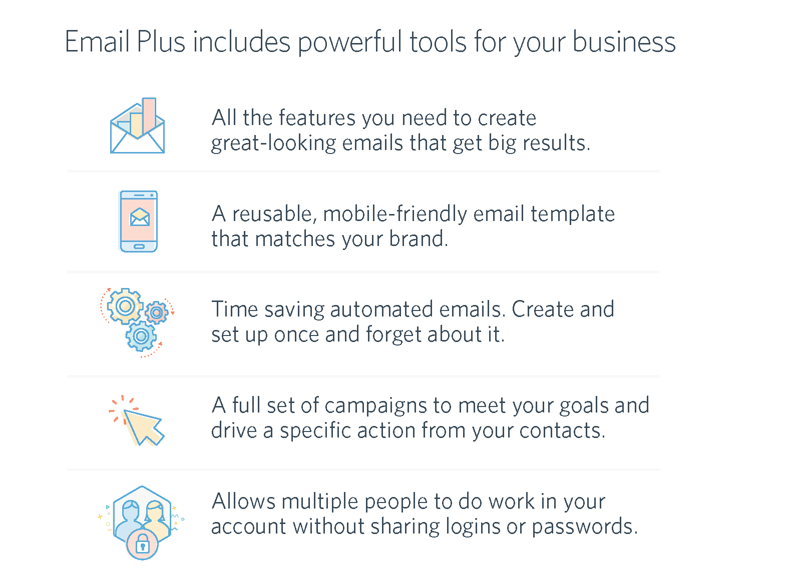 Constant Contact Email Plus Features